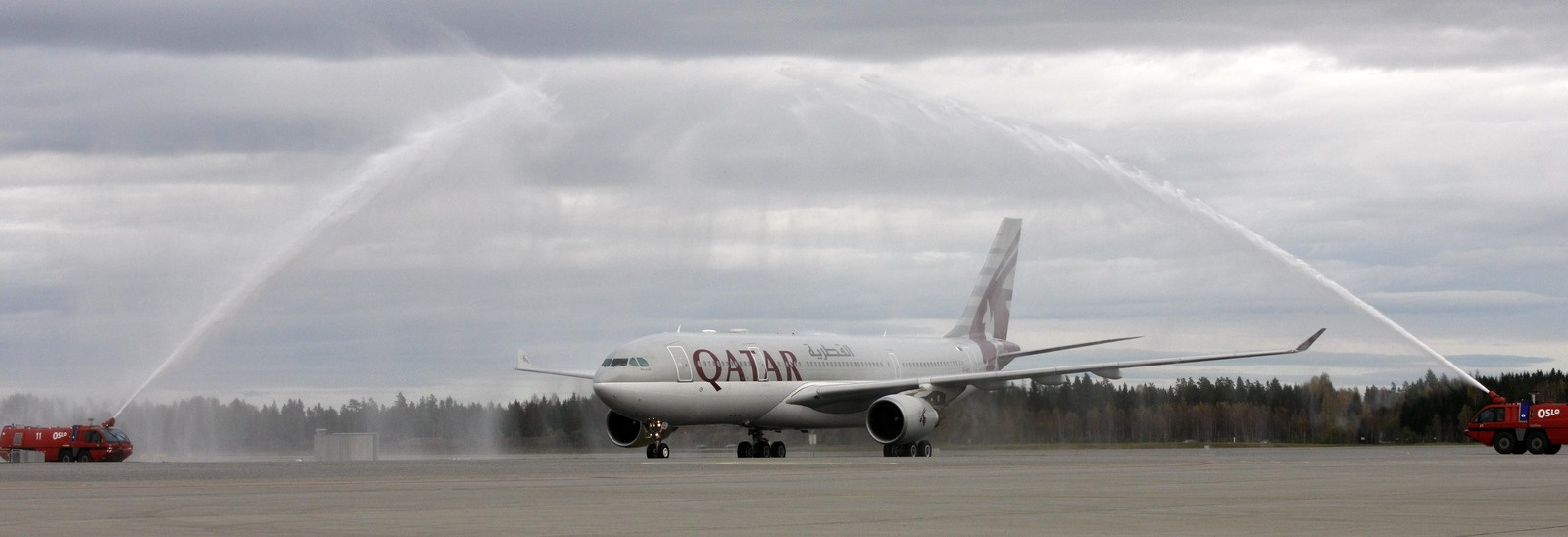 Qatarairways flyger till oslo
