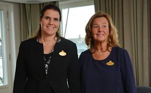 Hotellchef Madeleine Barck och vd Pia Djupmark.
