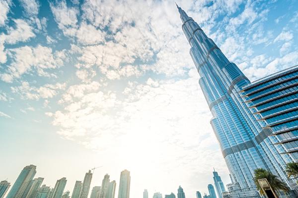 Burj Khalifa med omgivning