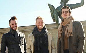 Anders Källvik, Axel Bergström och Carl Johan Lie Karlberg från Venuu. Foto: Robin Elmgren.