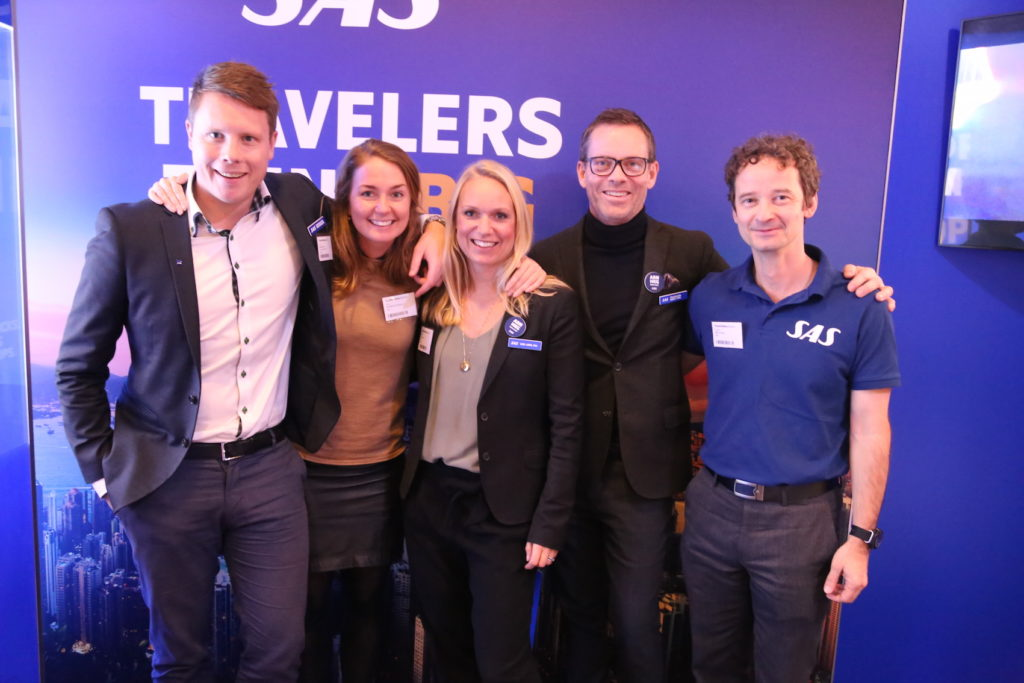 SAS-gänget Michael Erixon, Madeleine Svantesson, Theres Briger, Anders Wahlström och Miklos Puskas.