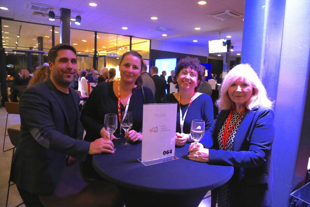 Leon Giannaridis från Seniormässan, Monika Pawlowska och Malgorzata Hudyma från Polens turistbyrå samt Patricia O'Connell från Maltas turistbyrå.
