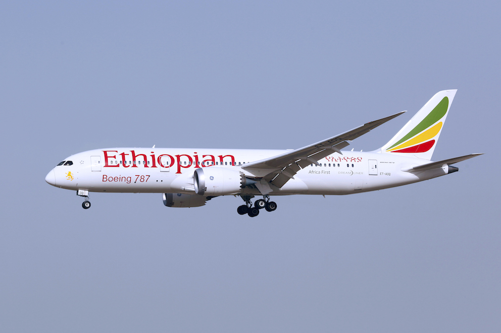 Ethiopian Airlines flyger till Oslo. Foto: Wikicommons