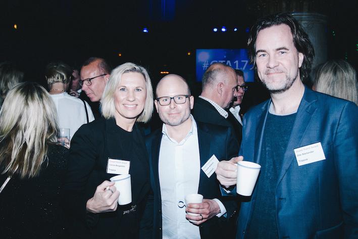 Carina Bergström, Trippus, Fredrik Ahlbom, Travelport, och Ola Starlander, Trippus. Foto: Olof Grind