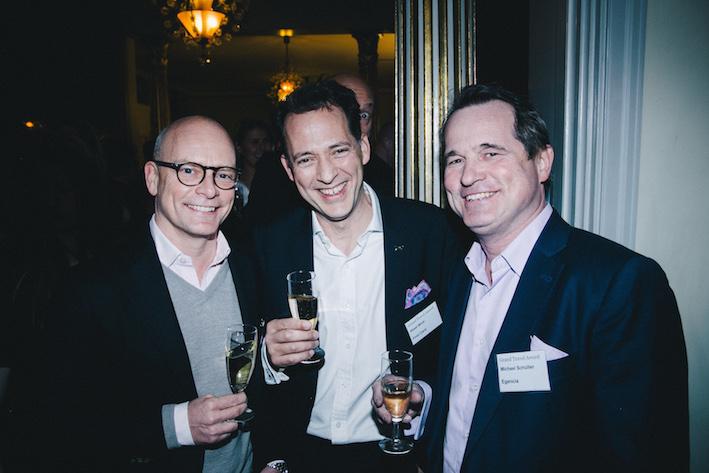 Markus Persson, Egencia, Aksel Birol, First Card, och Michael Schüller, Egencia.