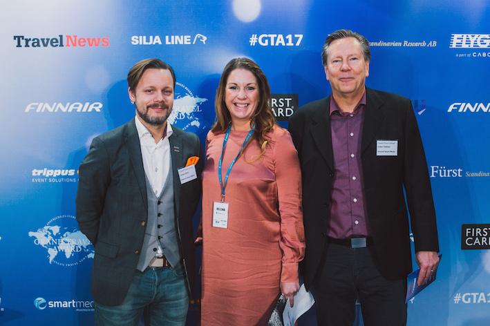 Johan Elwin, Helena Sjögren och Claes Tellman från Etraveli Smärt Media.
